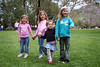 4/1 - Lili's birthday party in Old Poway Park where everybody got to ride the train. On this picture Abbie, Hannah, Lili and Chloe are waiting for the train to cross the park, but they are afraid of all the noises the steam engine makes.